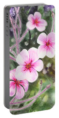 Portable Battery Charger featuring the painting Purple Flowers In Golden Gate Park San Francisco by Irina Sztukowski