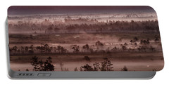 Purple Fog On Swamp Portable Battery Charger