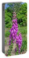 Purple Foxglove Digitalis Purpurea L Portable Battery Charger