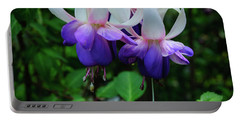 Portable Battery Charger featuring the photograph Purple Fuschia by Tikvah's Hope
