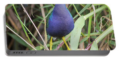 Portable Battery Charger featuring the photograph Purple Gallinule by Robert Frederick