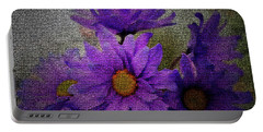 Purple Gerber Daisies Portable Battery Charger