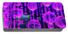 Purple Glass Portable Battery Charger