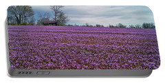 Portable Battery Charger featuring the photograph Purple Haze by Cricket Hackmann