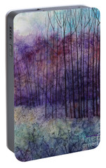 Portable Battery Charger featuring the painting Purple Haze by Hailey E Herrera
