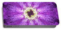 Purple Haze Portable Battery Charger by Kristin Elmquist