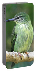 Purple Honeycreeper Female Portable Battery Charger