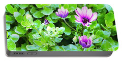 Purple In Greenery Portable Battery Charger