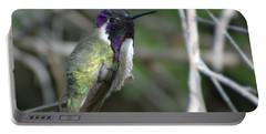 Portable Battery Charger featuring the photograph Purple Iridescence 2 by Fraida Gutovich