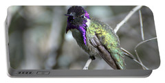 Portable Battery Charger featuring the photograph Purple Iridescence  by Fraida Gutovich
