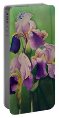 Purple Iris' Portable Battery Charger