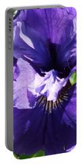 Purple Iris Portable Battery Charger