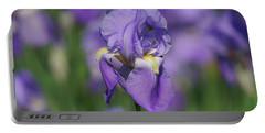 Purple Iris Fields Forever Portable Battery Charger