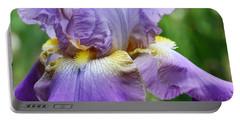 Purple Iris Flower Portable Battery Charger