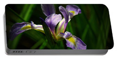 Portable Battery Charger featuring the photograph Purple Iris by Lisa L Silva