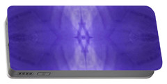 Purple Light Phantom  Portable Battery Charger by Rachel Hannah