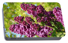 Portable Battery Charger featuring the photograph Purple Lilac 1 by Jean Bernard Roussilhe
