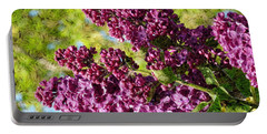 Purple Lilac 1 Portable Battery Charger