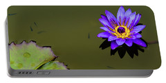 Purple Lily With Tiny Fish Portable Battery Charger