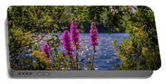 Portable Battery Charger featuring the photograph Purple Loosestrife In The Irish Countryside by James Truett
