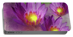 Purple Lotus Flower Portable Battery Charger