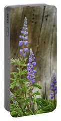 Purple Lupine Portable Battery Charger