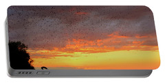 Purple Martin Sunset On Lake Murray Sc Portable Battery Charger