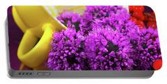 Purple Onion Flower Macro Portable Battery Charger