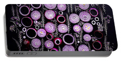Purple Onion Patterns Portable Battery Charger
