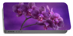 Purple Orchids Portable Battery Charger