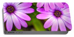 Purple Petals Portable Battery Charger by Az Jackson