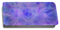 Purple Passion By Sherriofpalmspringsflower Art-digital Painting  Photography Enhancements Tradition Portable Battery Charger