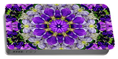 Purple Passion Floral Design Portable Battery Charger