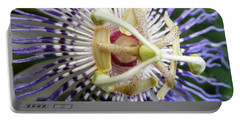 Purple Passion Flower Portable Battery Charger by Belinda Lee