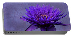 Portable Battery Charger featuring the photograph Purple Passion by Judy Vincent