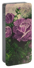 Purple Passion Portable Battery Charger by Lucia Grilletto