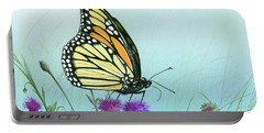 Purple Passion Portable Battery Charger by Mike Brown