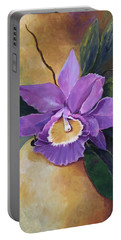 Purple Passion Orchid Portable Battery Charger