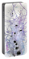 Purple Passion Portable Battery Charger by Rebecca Davis