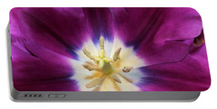 Portable Battery Charger featuring the photograph Purple Passion Tulip by Sheila Brown