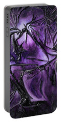 Purple Pedals Portable Battery Charger by Angela Stout