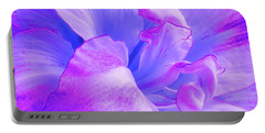 Purple Petals Abstract Portable Battery Charger by Gill Billington