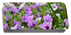Purple Petunias Portable Battery Charger