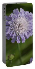 Purple Pincushion Flower II Portable Battery Charger