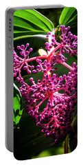 Purple Plant Portable Battery Charger