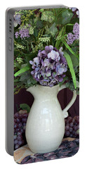 Purple Pleasures Portable Battery Charger by Sherry Hallemeier
