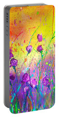 Purple Posies Portable Battery Charger