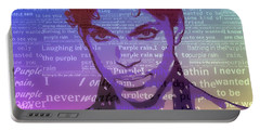 Purple Rain Typography Portable Battery Charger