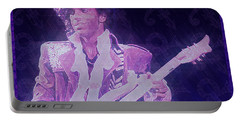 Purple Reign Portable Battery Charger by Kenneth Armand Johnson