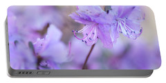 Portable Battery Charger featuring the photograph Purple Rhododendron 1. Spring Watercolors by Jenny Rainbow